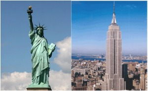 Statue of Liberty/Empire State Building