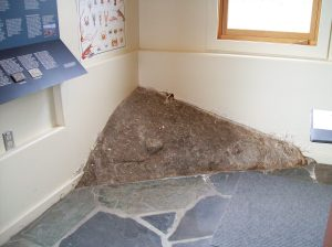 The rock in the floor