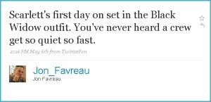 Jon Favreau tweet