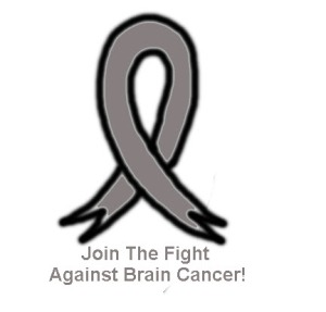Brain cancer ribbon