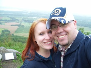 Sunshine & I at The Lookoff: Annapolis Valley, NS - 08-29-09