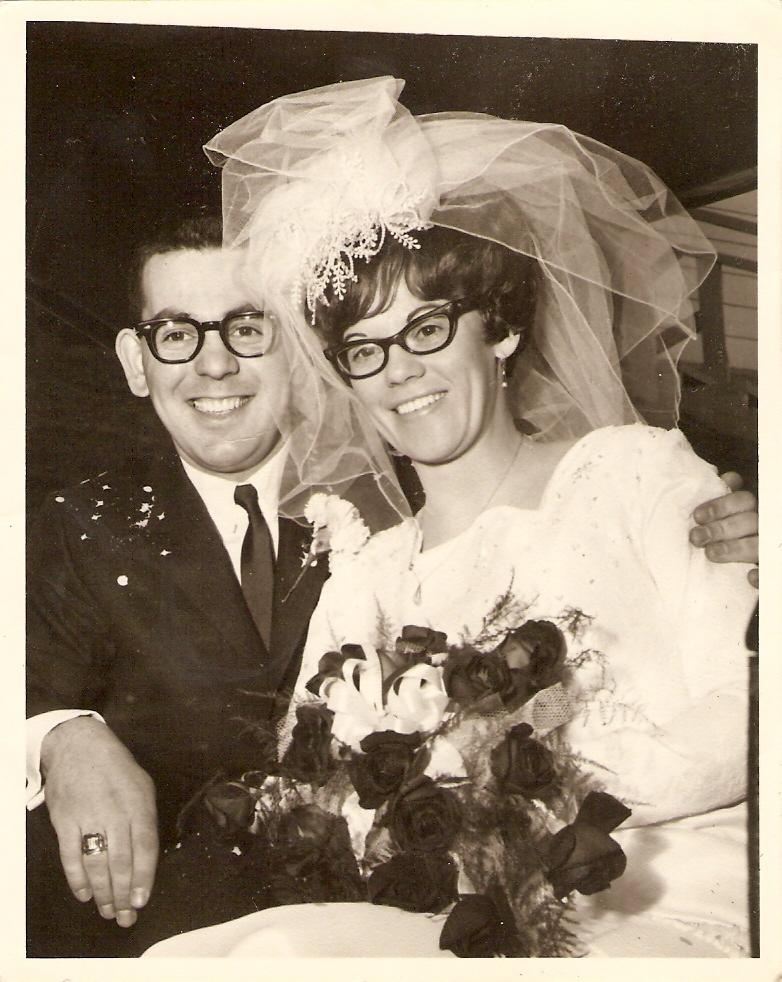 My parents' wedding photo: April 13, 1968