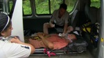 Mike being taken to hospital and out of Survivor: Samoa