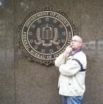 In front of the J. Edgar Hoover (FBI) building