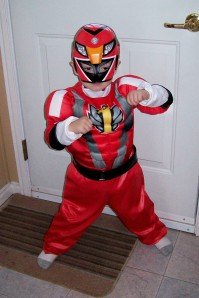 Super Ankle Biter Power Ranger!