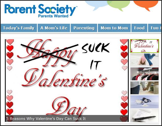 Parent Society  -  Suck It Valentines Day