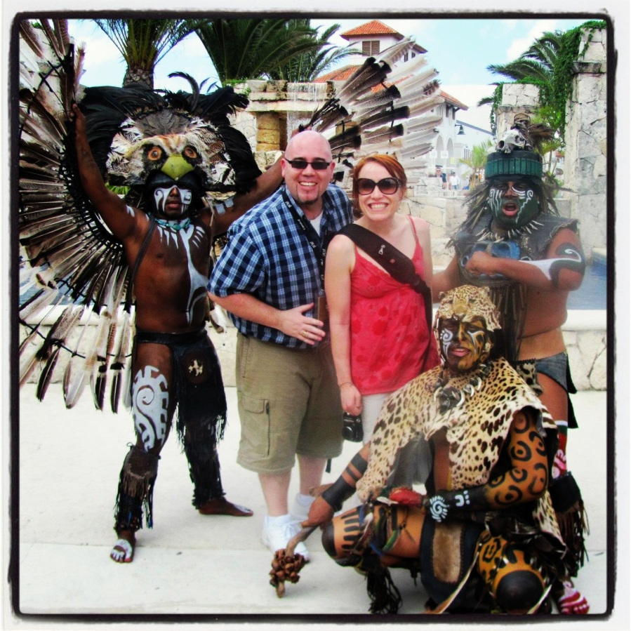 03-21-12 -- I realize that these guys in Cozumel were totally playing up stereotypes in order to get tourists to pay them money for pics, but I don't care...this is a fun photo!