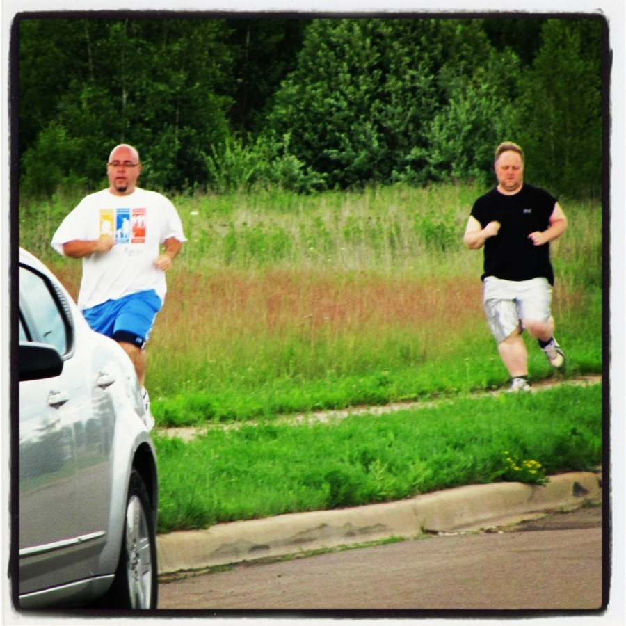 07-09-12 -- The Race!! Remember all of that training I was doing at 6am? Well...it paid off as I beat my buddy in a foot race. This was a good feeling. I'm looking forward to gaining that feeling back in 2013.