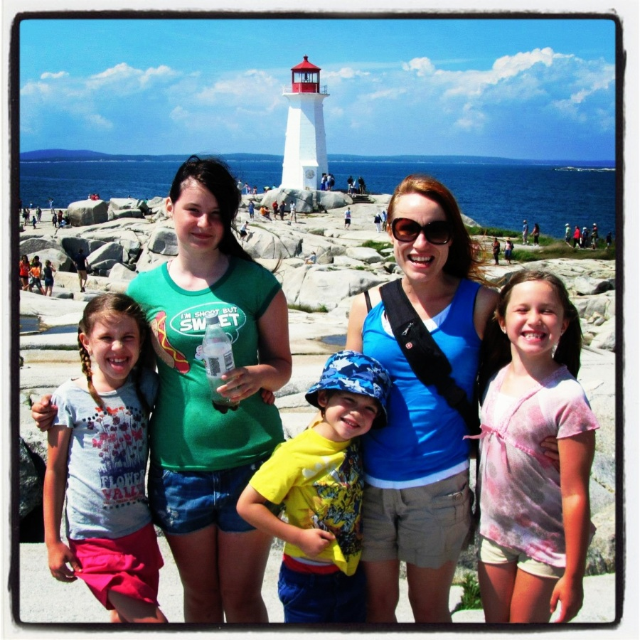 08-14-12 -- This was a trip we all took to Peggy's Cove. I love doing outdoor things like this with all of the family together.