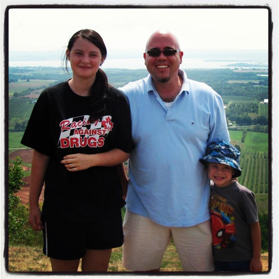 08-16-12 -- Rugrat, myself, and Ankle Biter. #proudpapa