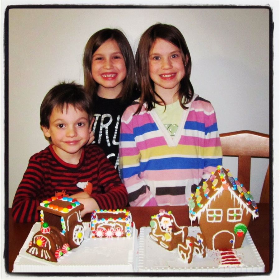 12-01-12 -- I was quite happy at the results of our first blended family gingerbread house making skills. MAD SKILLZ, BRO!!