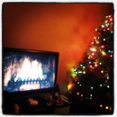 Fireplace fun and a Christmas tree