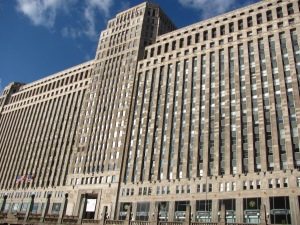 The Chicago Merchandise Mart...an incredible structure with over four million square feet of floor space.