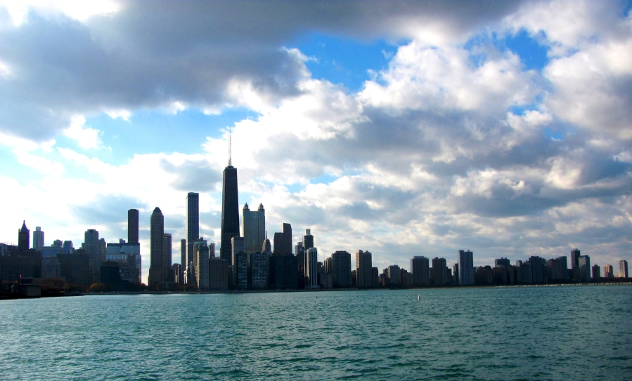 The Chicago Skyline from Lake Michigan