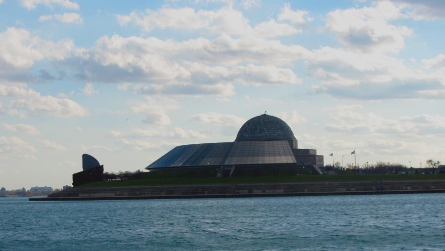 The Adler Planetarium, a planetarium and astronomy museum.