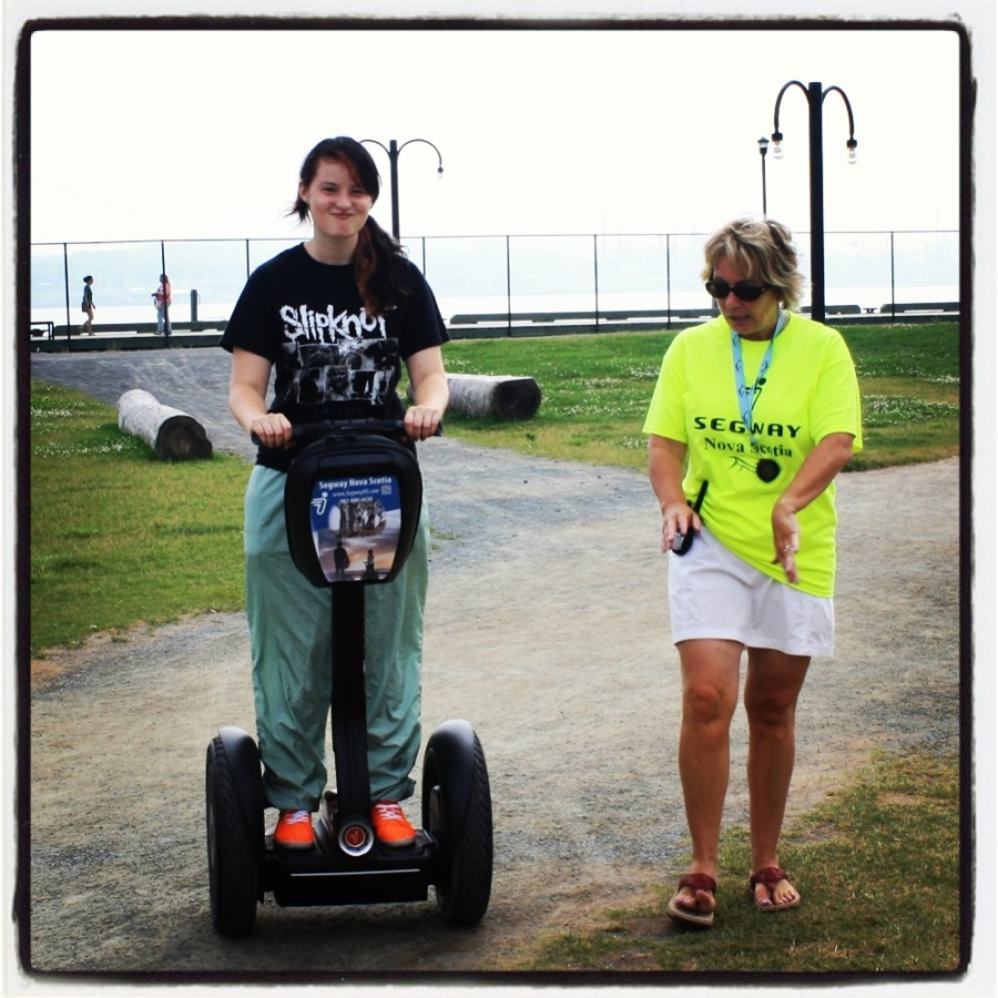 Rugrat had a great time trying new things this summer. Getting on a Segway was one of them!