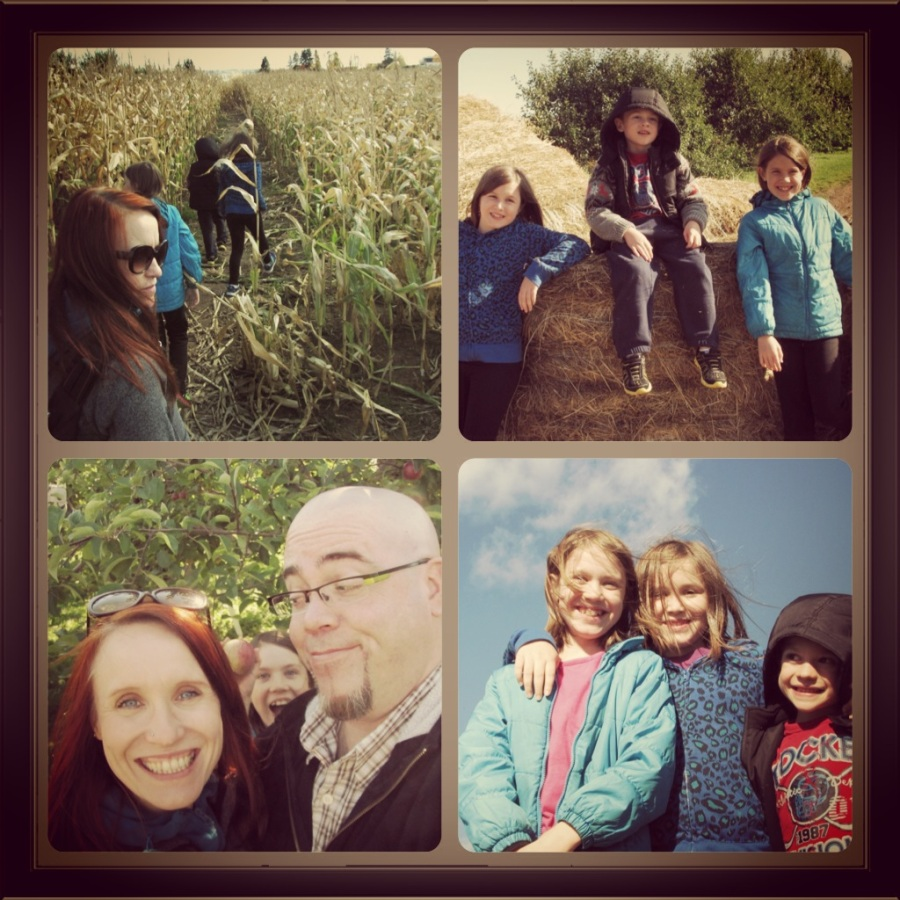 Walking through corn fields and then apple picking. Family time!!