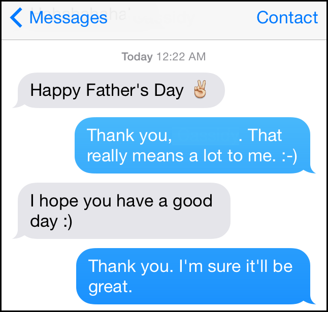 Father's Day Text