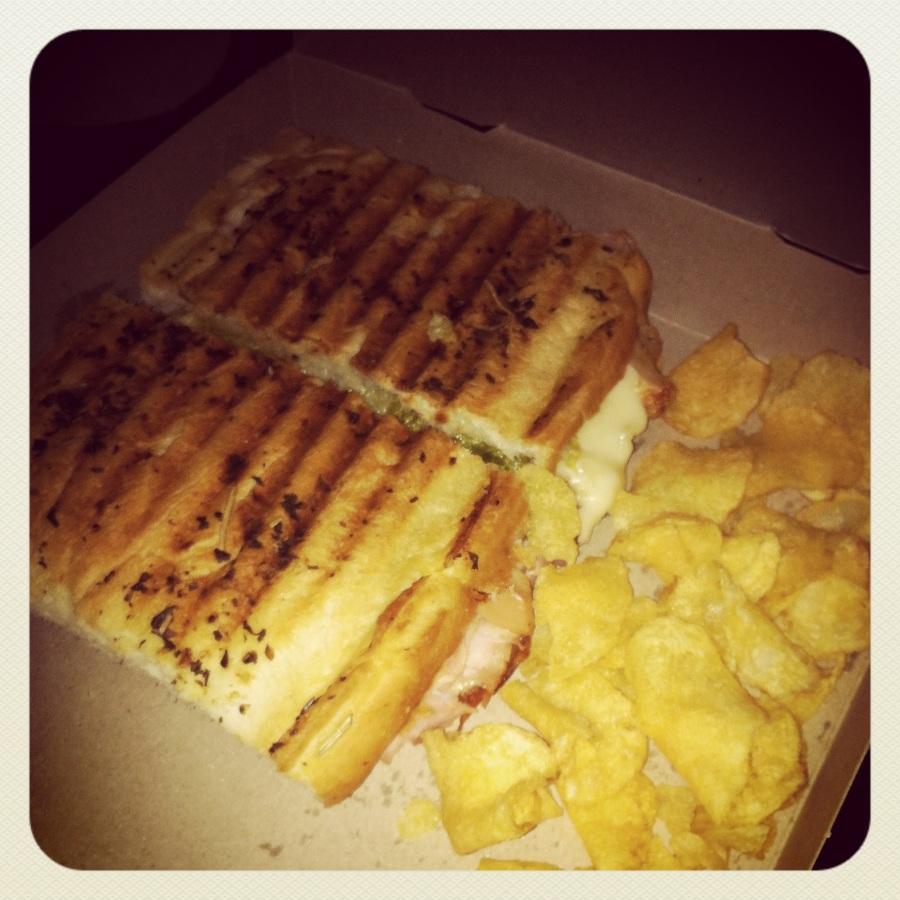 Chicken club panini