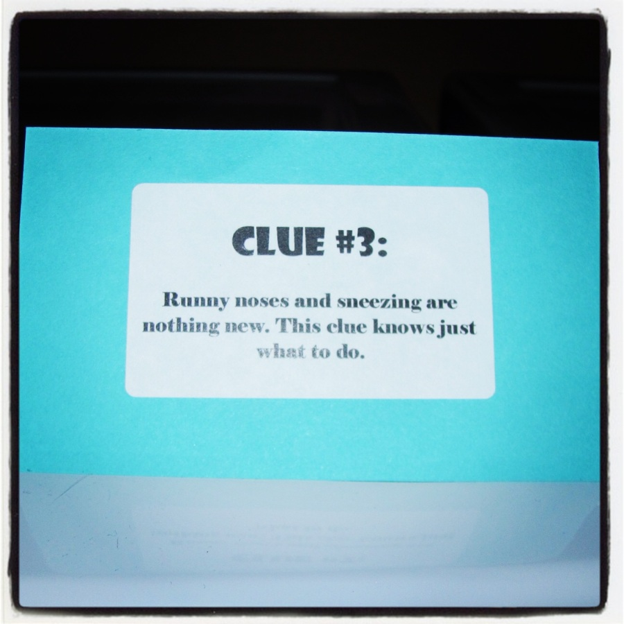 Clue #3 said