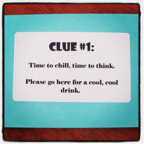 I kicked things off with Clue #1