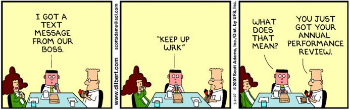 Dilbert performance review