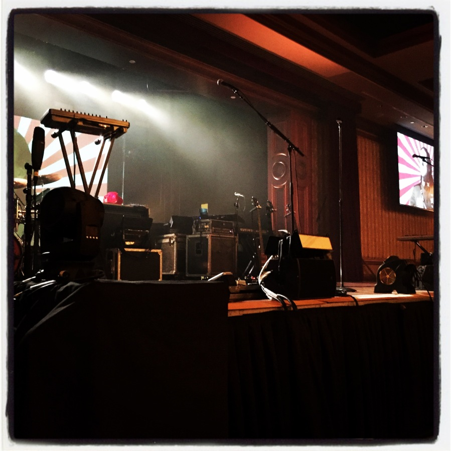 Front row view