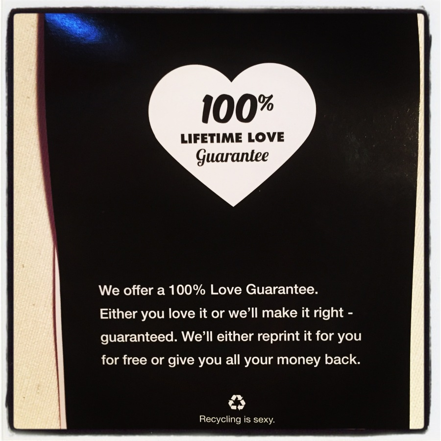 You gotta love any kind of 100% guarantee!