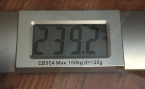 My Weight - 04-06-16 - 239.2lbs