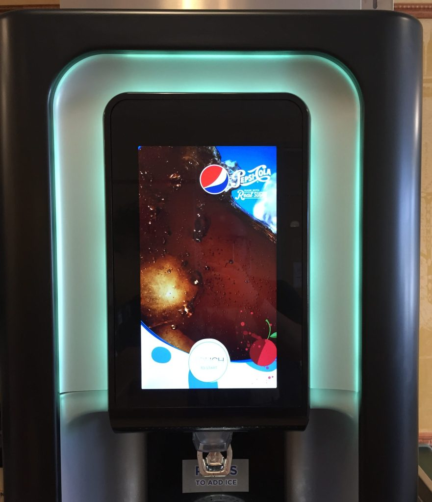 Saw the coolest new fountain pop machine at a local Subway. I can't even describe it...but for whatever reason, it gave me great joy.