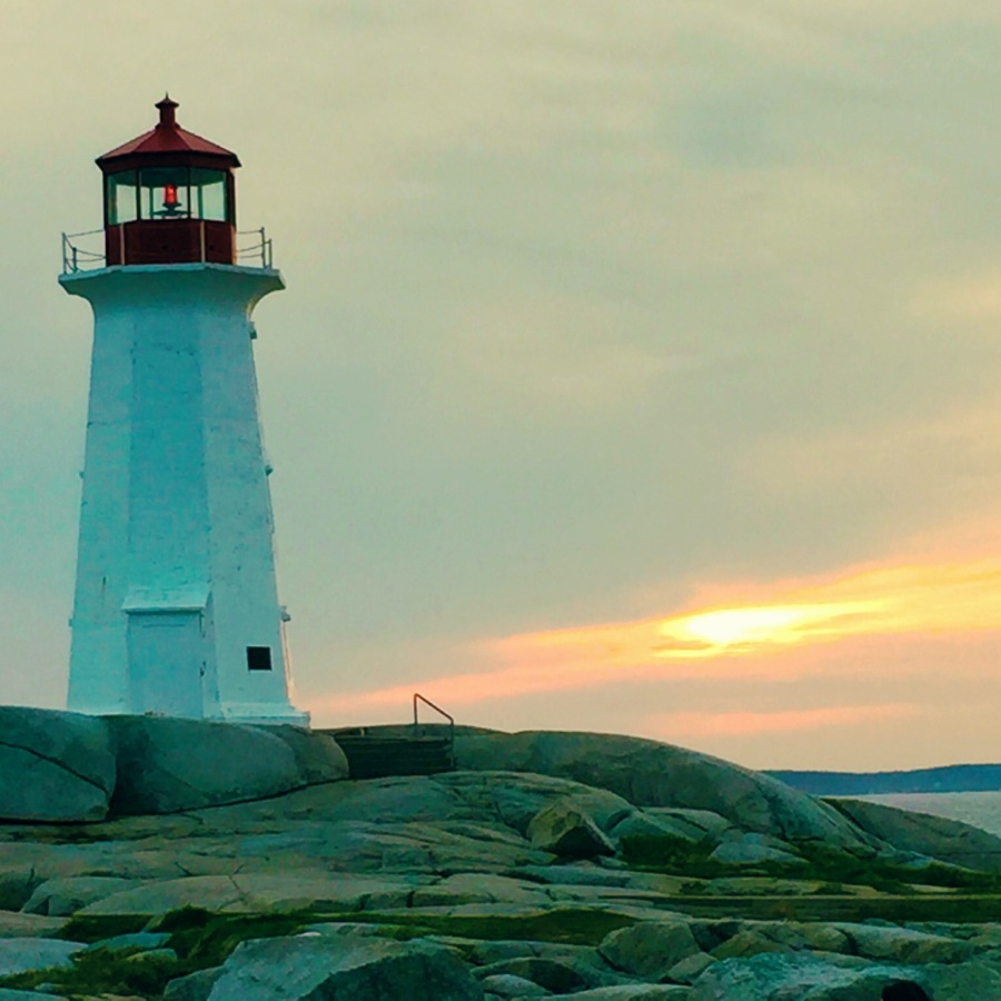 Sunshine and I went to Peggy's Cove for sunset as a Saturday night date. It clouded over before we could get an awesome sunset, but it didn't matter. I loved it.