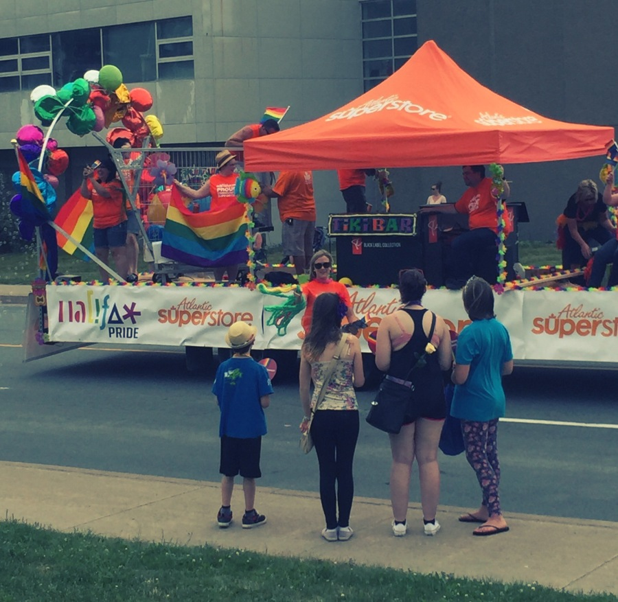 This was the first time my son had ever attended the Halifax Pride Parade. In fact, I'm not sure if he ever had been exposed to the LGBT community before. I tried to explain to him prior to the event what to expect, why we were going, and why there was a parade. I felt it was important for all of our kids to understand what everybody was celebrating.