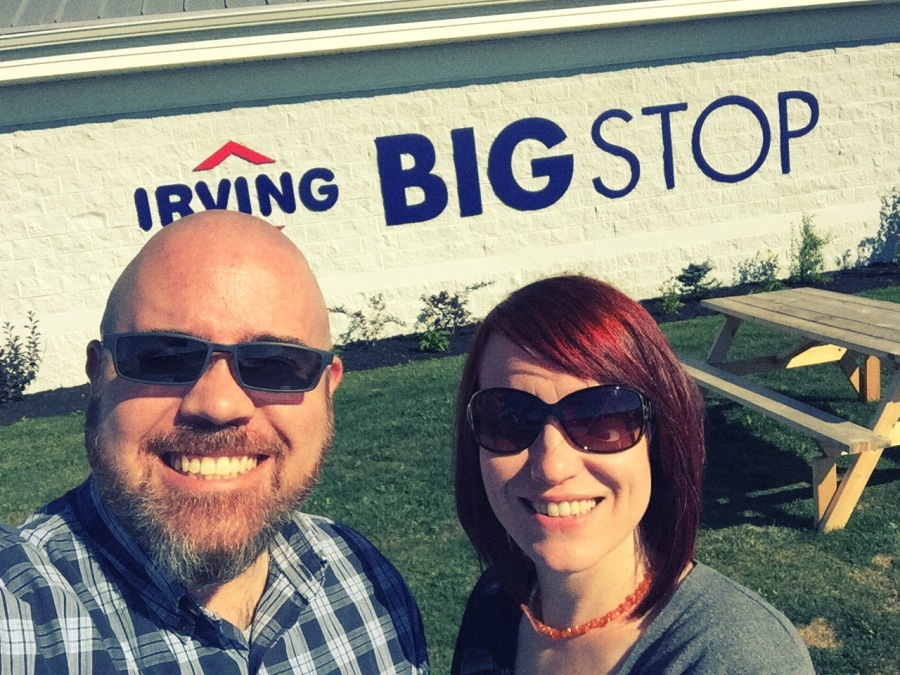 "The next stop is now kind of a ""tradition"" for us whenever we drive through the area. This is an Irving Big Stop located in Salisbury, New Brunswick. I don't know why, but this gas station is massive and is always REALLY busy. It's just a fun stop for us to take a silly selfie."